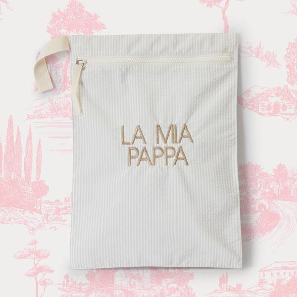 Sacchetto cambio La Tata LA MIA PAPPA beige new