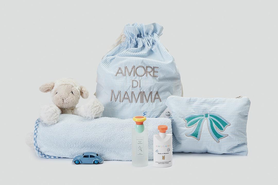 """Set Nascita """"EMERGENZA CAMBIO"""": la Pochette bebè """"Belbelè"""" e il sacchetto nascita"""
