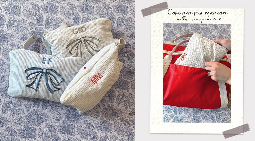Illustrazione natalizia della borsa mamma solferina con sacchetti cambio con snap per completarla